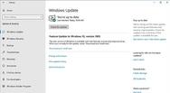 Screenshot zu Updates bei Windows 10 Build 1903