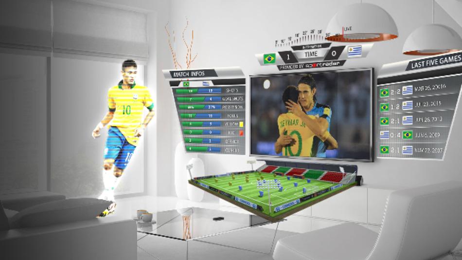 Mit Augmen.TV von eyecandylab spielen Eure Lieblingsspieler auf Eurem Wohnzimmertisch.