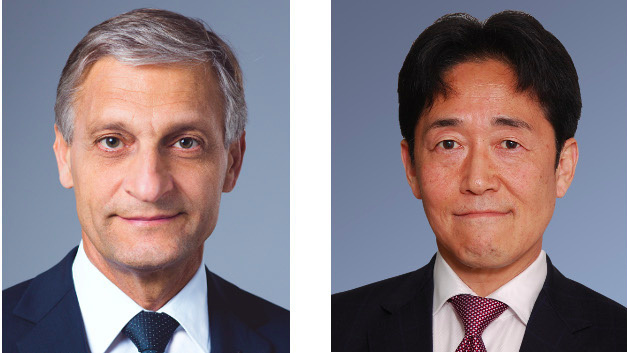 Christian André, Chairman of Rohm Semiconductor Europe (left) and Toshimitsu Suzuki, President of Rohm Semiconductor Europe (right).