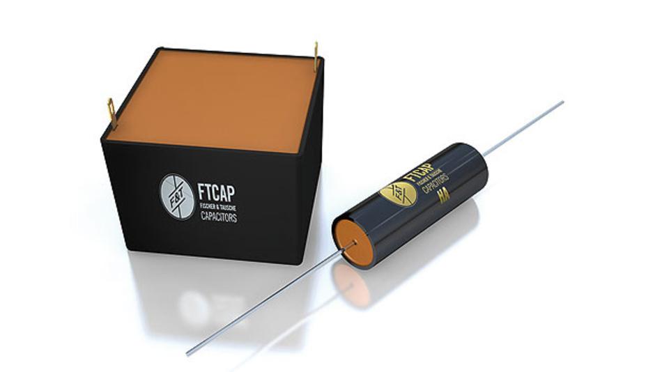 Bild 1. Im Sortiment von FTCAP finden sich zahlreiche Ausführungen von Hochspannungskondensatoren mit verschiedenen Gehäuseformen und AnschlusstTerminals, darunter auch radiale Bauformen.