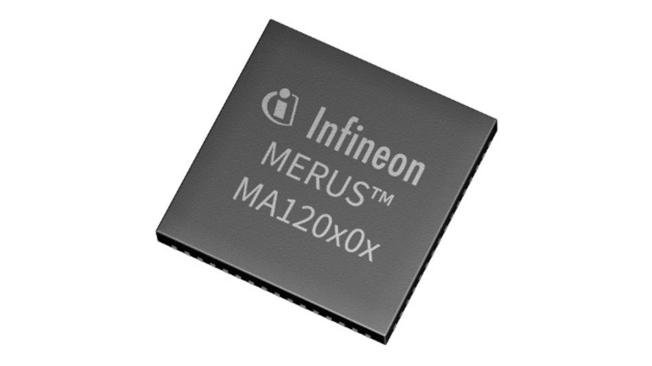 Die neuen Merus Klasse-D-Verstärker von Infineon MA12040/P und MA12070/P unterstützen bis zu vier Kanäle.