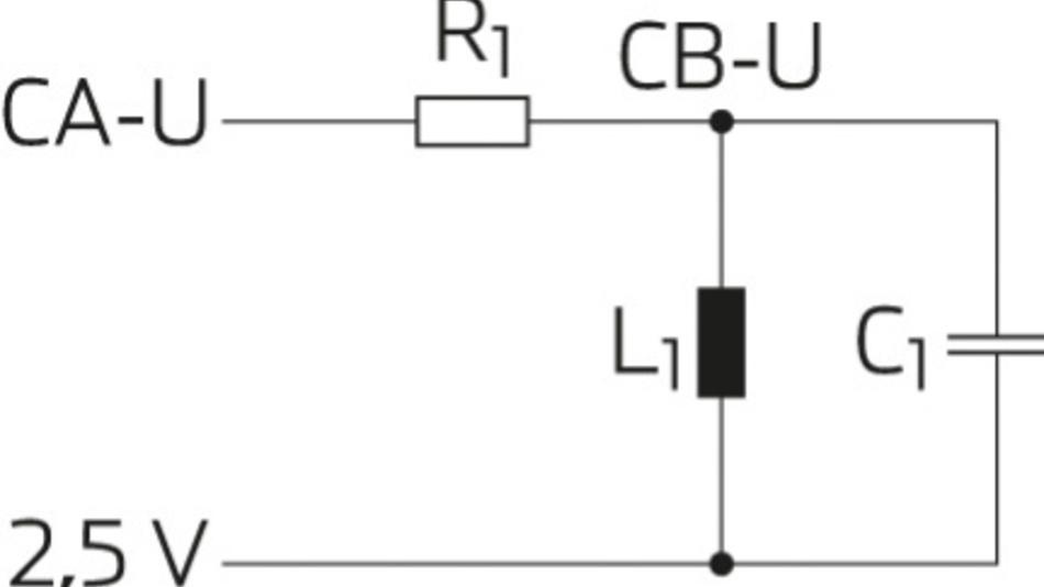 Bild 4. Schaltung und Anschlüsse eines Bandpassfilters.
