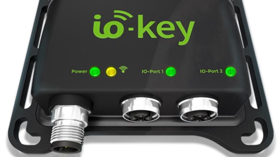 Das IoT-Gateway »io-key« bringt Daten von IO-Link-Sensoren über NB-IoT in die Cloud.