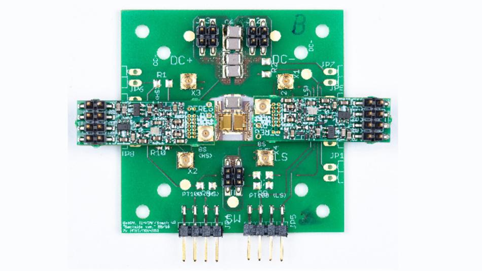 In der Elektromobilität müssen möglichst viele kleine und effiziente Systeme auf wenig Platz verbaut werden. Der abgebildete Spannungswandler basiert auf GaN-Power-ICs der Abmessung 4 mm x 3 mm.