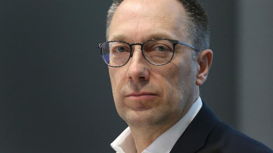 Peter Mohnen auf der Bilanz-Pressekonferenz von Kuka im vergangenen Jahr.