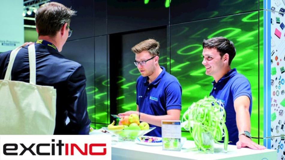 Auch Messeteilnahmen wie hier auf der Sensor&Test gehören zum Aufgabenbereich von Product Sales Manager Tobias Baisch (r.).
