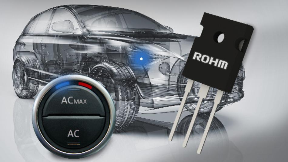 Die neuen 1.200 V-IGBTs von Rohm eignen sich für Wechselrichter in elektrischen Kompressoren sowie für den Einsatz in PTC-Heizgeräten.