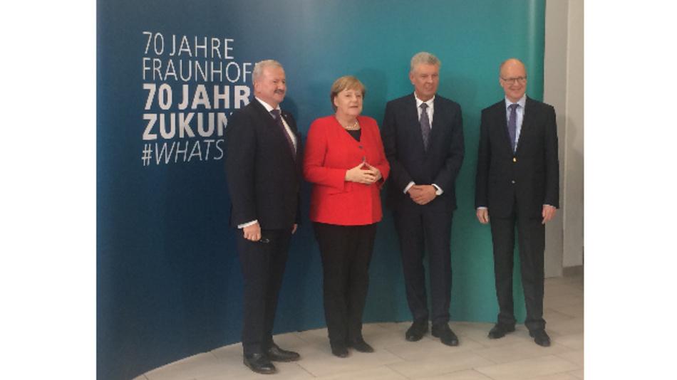Auch Bundeskanzlerin Angela Merkel war beim 70-jährigen Fraunhofer Jubiläum zu Besuch.