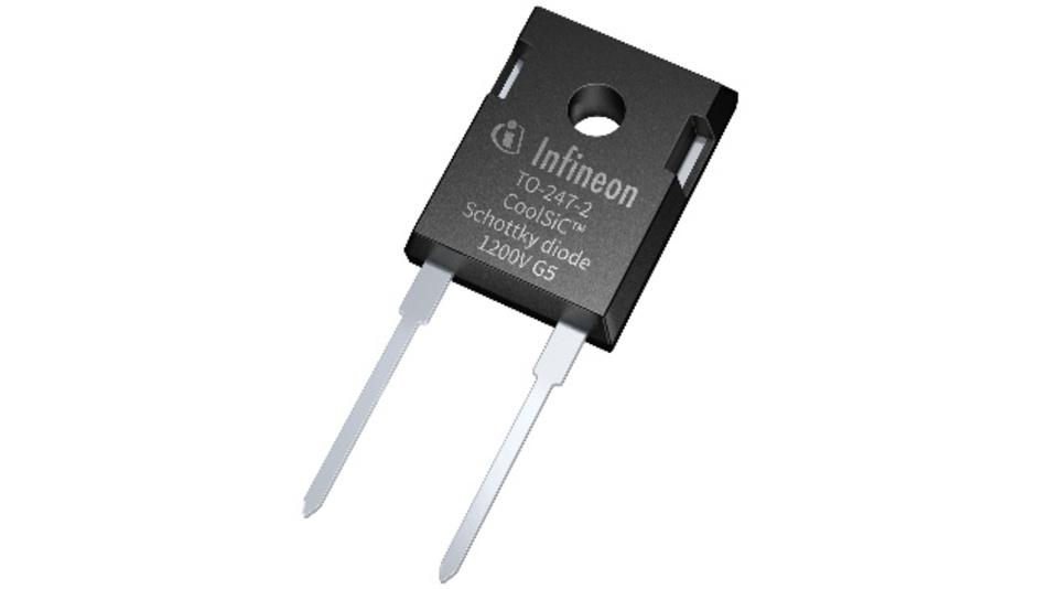 Die SiC Schottky-Diode von Infineon ersetzt herkömmliche Siliziumdioden.