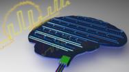 Auf dem Chip erstreckt sich ein künstliches Netz von Neuronen und Synapsen, das mit Licht arbeitet.