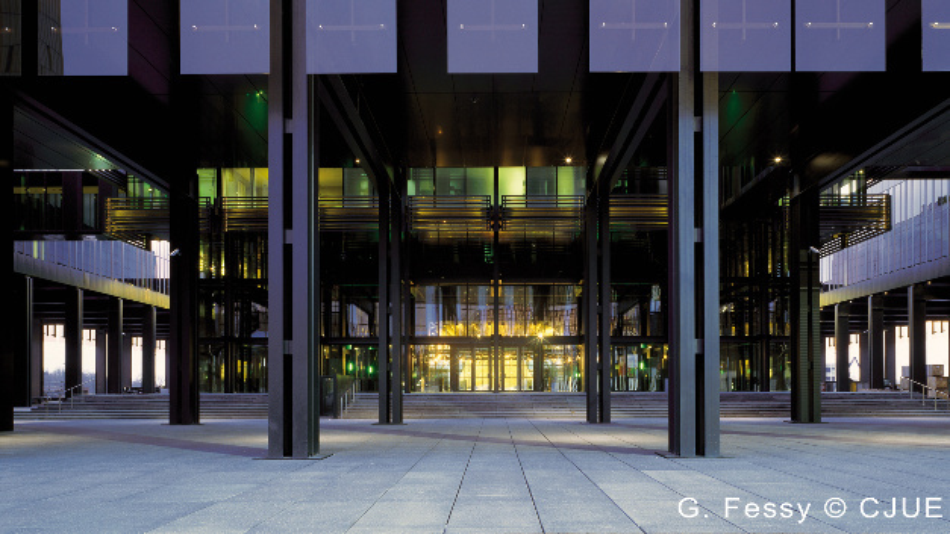 Der Europäische Gerichtshof, Haupteingang des Palais.