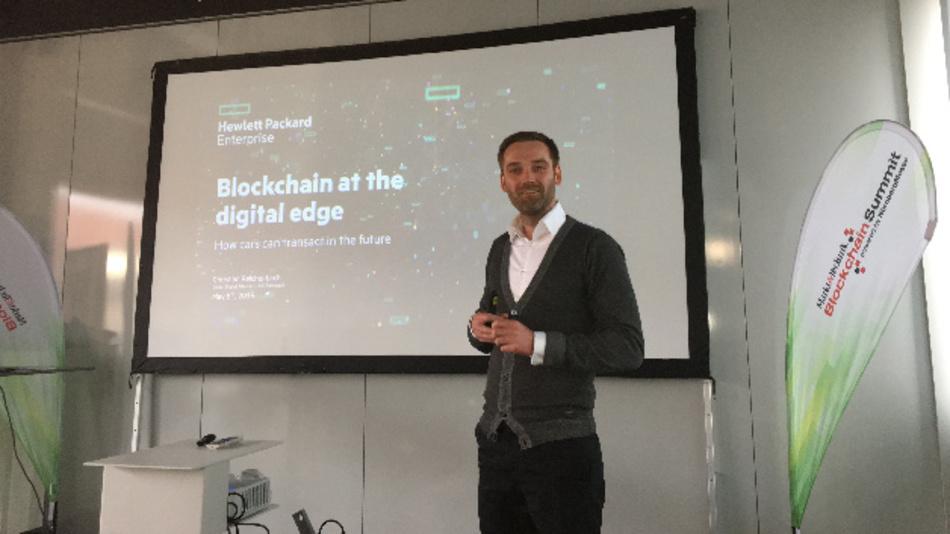Christian Reichenbach, Solution Strategist, Hewlett Packard Enterprise: »Wir machen die Blockchain nicht der Blockchain wegen, sondern weil sie den Datenfluss erst ermöglicht.«