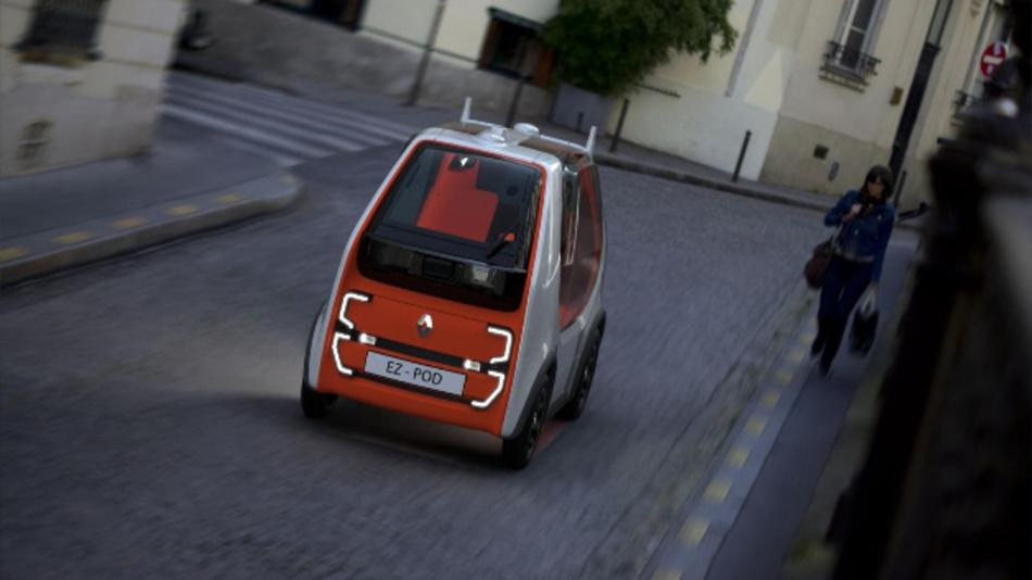 Der EZ-POD von Renault von vorne.
