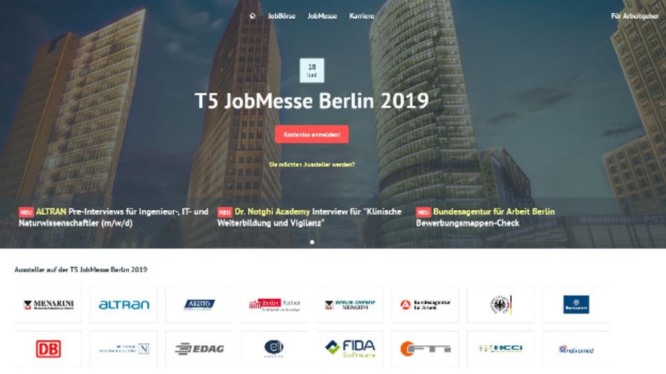 Mehr Infos zur Jobmesse in Berlin unter www.t5-karriereportal.de.