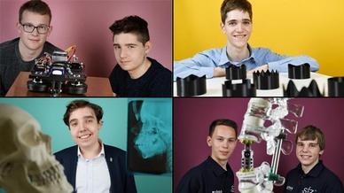Bildcollage zu Preisträgern von Jugend forscht 2019