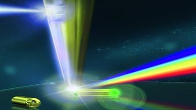 Eine extrem dünne Spitze aus Gold kann Licht so stark fokussieren, dass Objekte mit einem Durchmesser von wenigen Nanometern sichtbar werden.