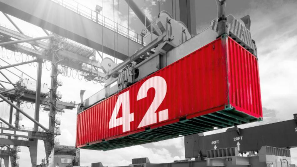 Für zwei Jahre wird »Container 42« um die Welt geschickt, um Messdaten über die Transportbedingungen in der Logistik zu sammeln.