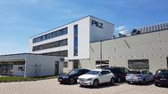 Am Stammsitz von Pilz in Ostfildern-Nellingen bei Stuttgart