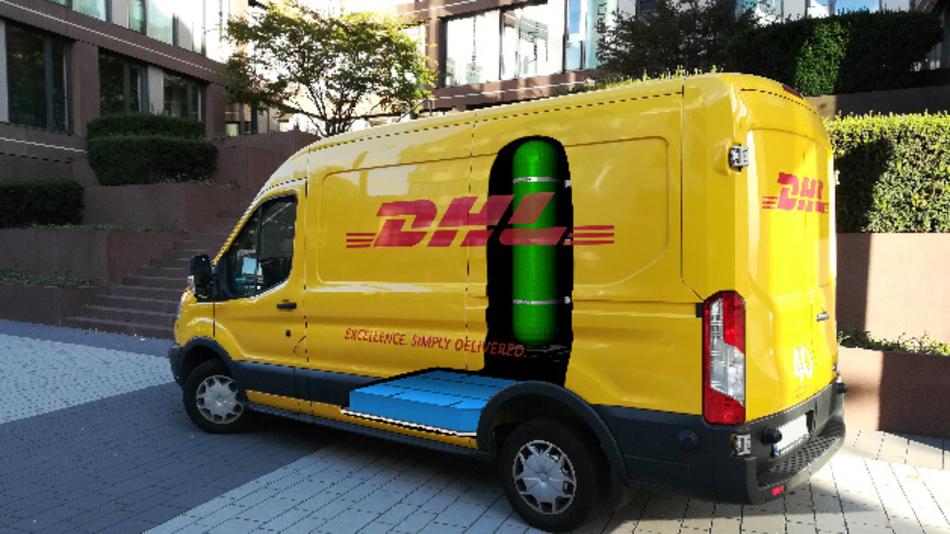 Der »H2 Panel Van« von DHL und StreetScooter.