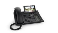 Telefon mit Bildübertragung, im Display ist ein Paketbote zu sehen