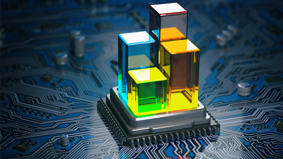 Chip auf Leiterplatte mit 3D-IP-Blöcken