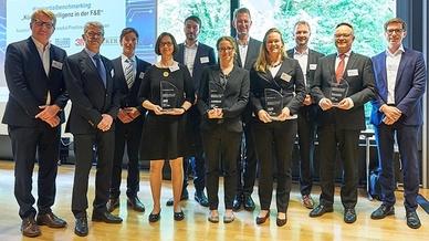 Preisträger und Konsortium des Benchmarkings KI in der F&E 2019