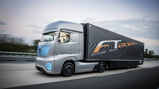 Der Mercedes-Benz Future Truck 2025.