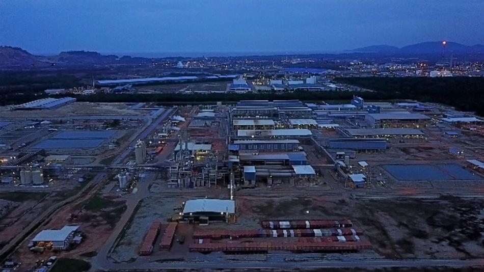 Die Anlage der australischen Firma Lynas Corporation in Malaysia, wo die Seltenen Erden aufbereitet werden.