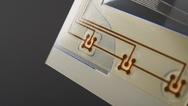 Folientastatur mit Leiterbahnen in Kupfer