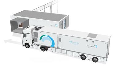 Das medneo mobile center bringt die MRT-Diagnostik dorthin, wo sie benötigt wird.