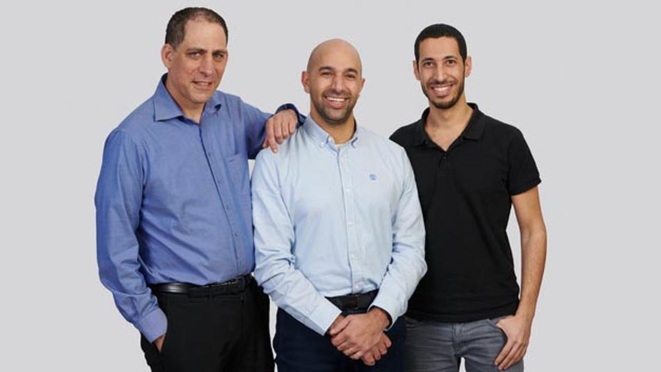 Die Gründer von TriEye (von links nach rechts): Prof. Uriel Levy, CTO, Avi Bakal, CEO und Omer Kapach, Vice President Forschung und Entwicklung.