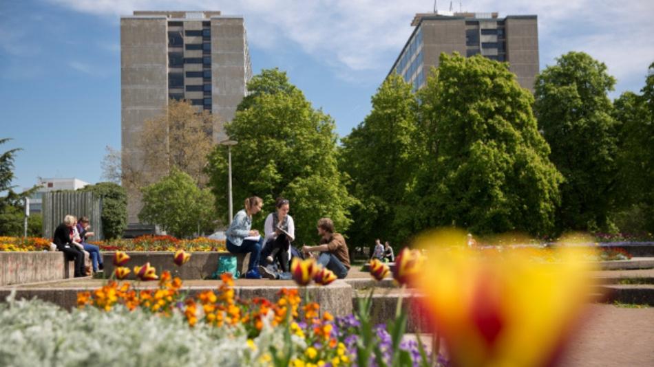 Campus Stadtmitte: Blick auf die Gebäude K1 und K2 der Uni Stuttgart.