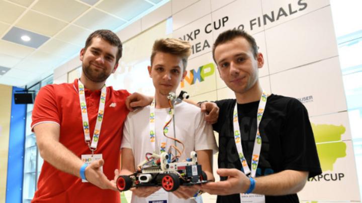 NXP Cup EMEA Finals 2019: Mitglieder des polnischen Teams KAW4Wheels.