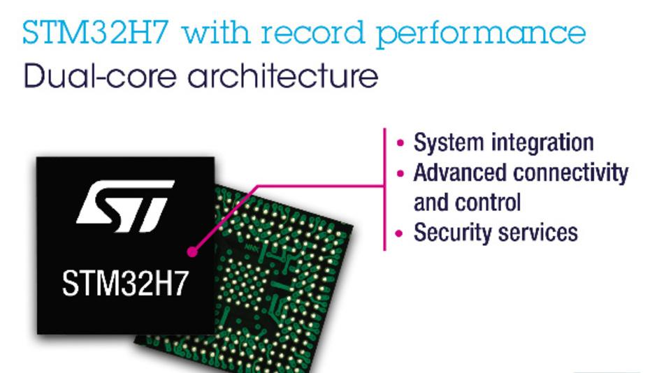 Neue STM32H7-Mikrocontroller von STMicroelectronics kombinieren Dual-Core-Performance mit reichhaltiger Feature-Ausstattung.
