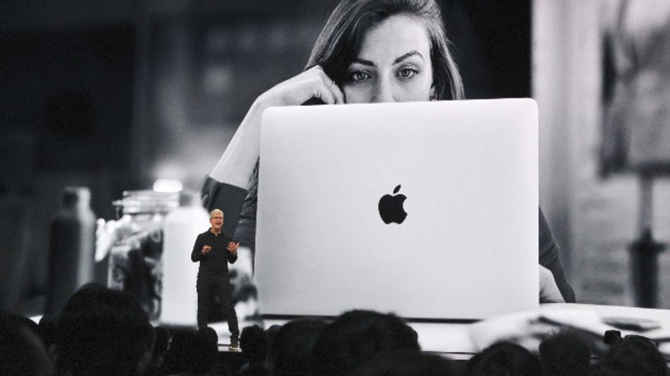 Tim Cook, CEO von Apple, spricht auf der Apple-Entwicklerkonferenz WWDC.