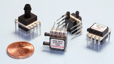 Miniaturisierte leiterplattenmontierbare Drucksensoren AMS 6916