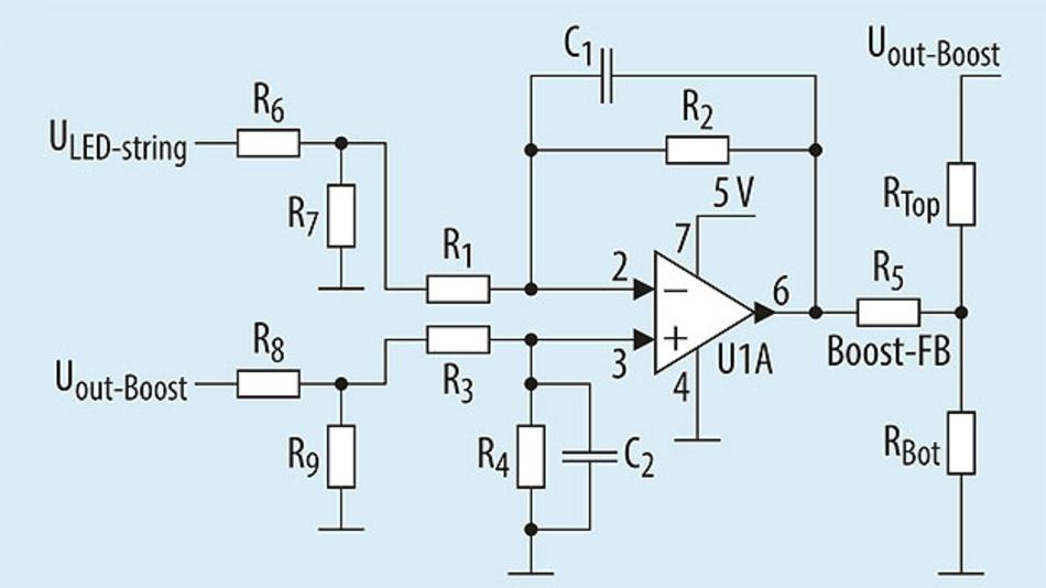 Bild 5. Beispielkonfiguration für eine adaptive Pre-Boost-Reglerschaltung.