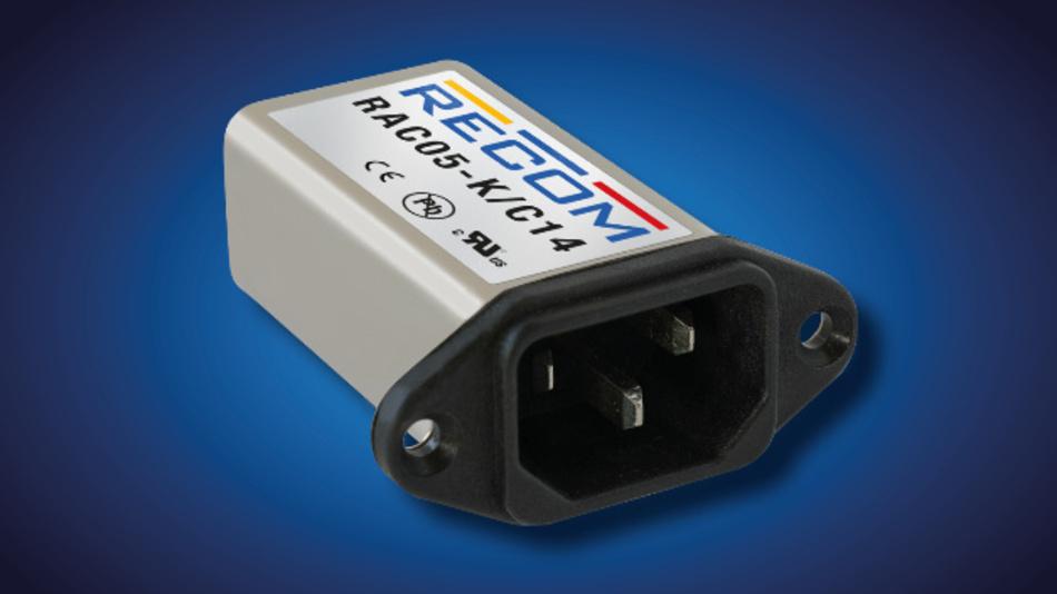 Recom hat mit dem RAC05-K/C14 nun ein komplettes 5-W-Netzteil entwickelt, das in einem üblichen C14-Netzfiltergehäuse Platz findet.