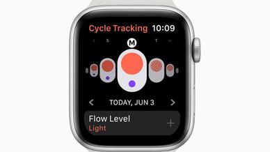Mit der Zyklustracking App können Nutzerinnen Informationen über ihre Menstruationszyklen protokollieren.