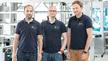 Thomas Hilzbrich, Pablo Mayer und Felix Müller (v. l.) von Plus10