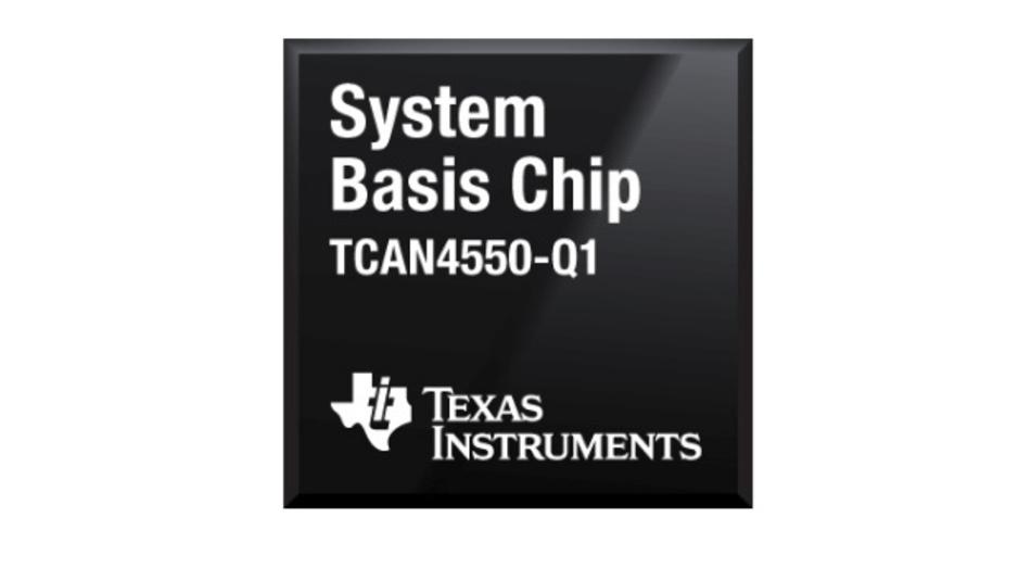 Der TCAN4550-Q1 System Basis Chip von Texas Instruments für das Kommunikationsprotokoll CAN FD im Fahrzeug.