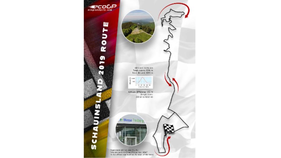 Streckenverlauf der eco Grand Prix Schauinsland Hill Challenge 2019.