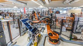 Produktion der SOLARWATT GmbH in Dresden