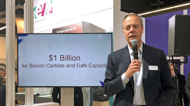 At PCIM Europe 2019, Gregg Lowe, CEO of Cree, announced that the company will invest one billion US dollars in manufacturing capacity of SiC and GaN.