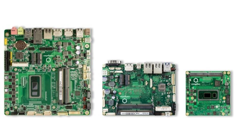 Die neuen Intel-Embedded-Prozessoren der achten Generation werden von den Herstellern sofort auf Boards und Modulen implementiert.