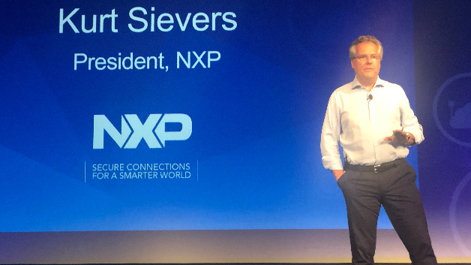 NXPs President Kurt Sievers hielt die Keynote auf der Entwicklerkonferenz Connects 2019.