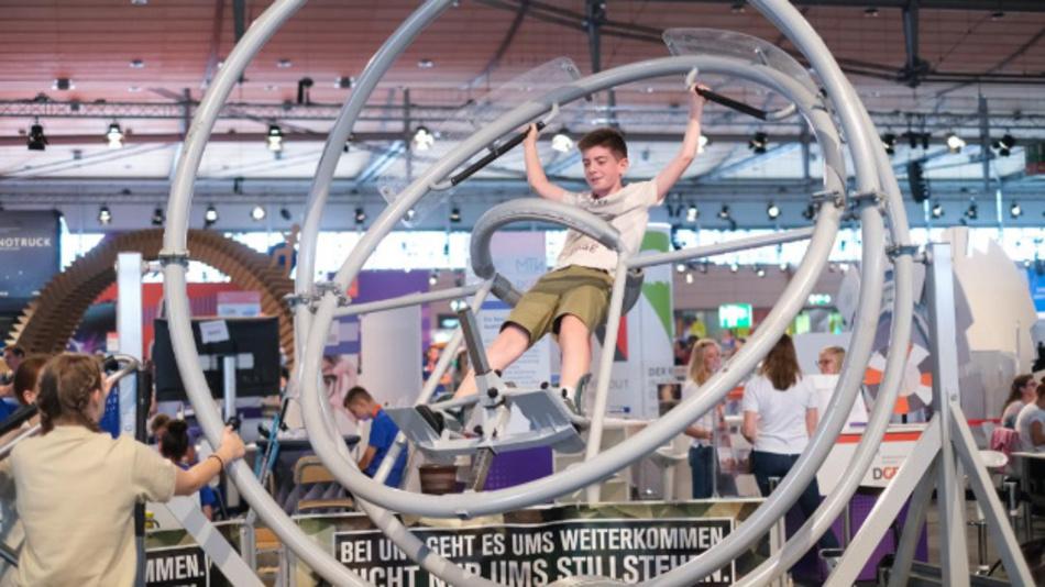 Training wie bei den Astronauten auf der IdeenExpo in Hannover.