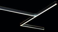 LED-Leiste vor schwarzem Hintergrund