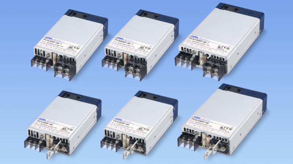 Die Netzteile der PCA-Serie von Cosel verfügen über analoge und digitale Schnittstellen zur Steuerung und Parametrierung.