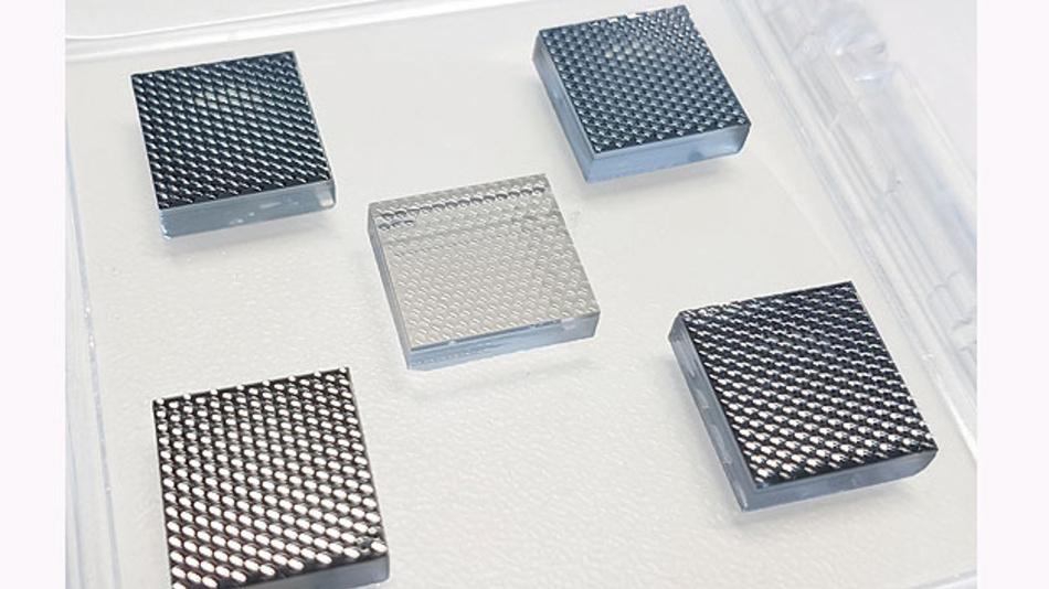 Bild 4. Typisches 10-mm-x-10-mm-Mikrolinsen-Arrays von ams.